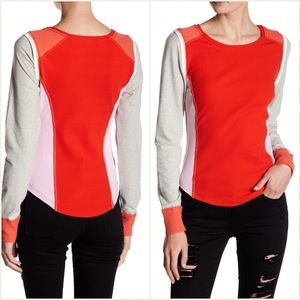 Free People Fancy That Red Fitted Thermal Tee Sz S